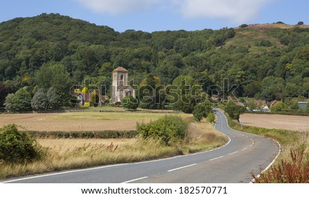 Little Malvern Priory, UK A Benedictine monastery, the priory was dissolved by Henry VIII and bought by Henry Russell, whose descendants, the Berington family, still live there to this day. - stock photo
