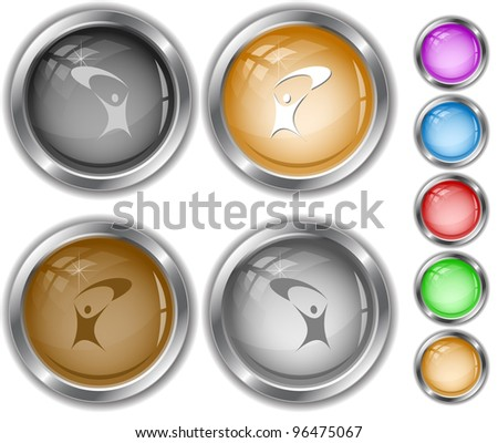 Little man. Raster internet buttons. Vector version is in portfolio. - stock photo
