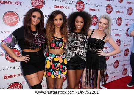 Little Mix at Teen Vogue's Back-To-School Saturday Kick-Off Event, The Grove, Los Angeles, CA 08-09-13 - stock photo