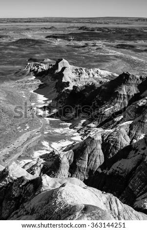 little painted desert landscapes. - stock photo