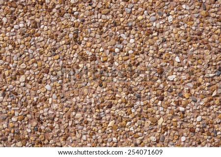 Little pebbles texture of floor, Tile stone background - stock photo
