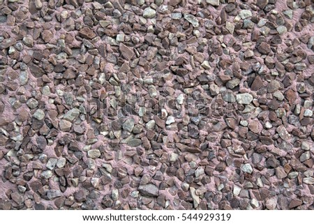 Little pebbles texture of floor, Tile stone background