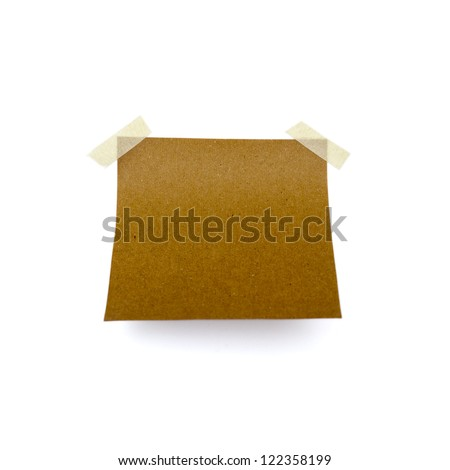 Little piece of paper on a white background - stock photo