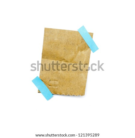 little piece of paper on white background and in high definition - stock photo