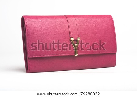 little pink purse  on white