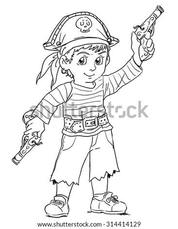 Little Pirate - stock photo