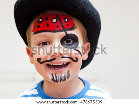 Little pirate - boy dressed up for Halloween