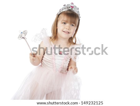 Little Princess.  Isolated on white.