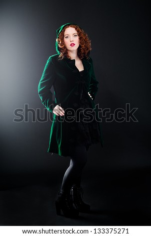 Little red green - stock photo