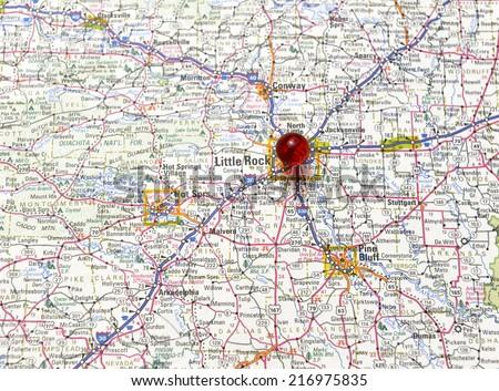 Arkansas Road Map Stock Images RoyaltyFree Images Vectors - Road map of arkansas