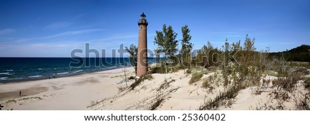 Little Sable Point Lighthouse On Lake Michigan, Lower Peninsula - stock photo