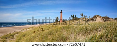 Little Sable Point Lighthouse On Lake Michigan, Lower Peninsula, USA - stock photo