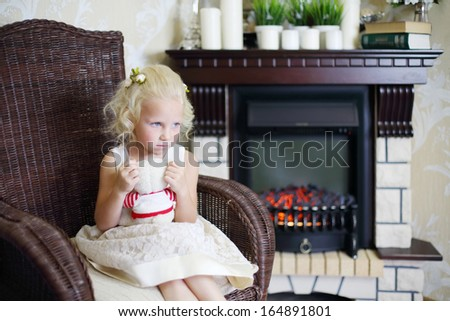 Little Flowers Girl Holding Sad Stock Photos Images