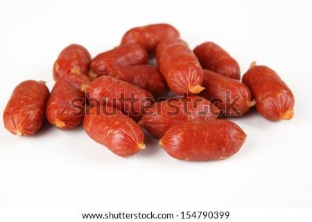 little salami - stock photo