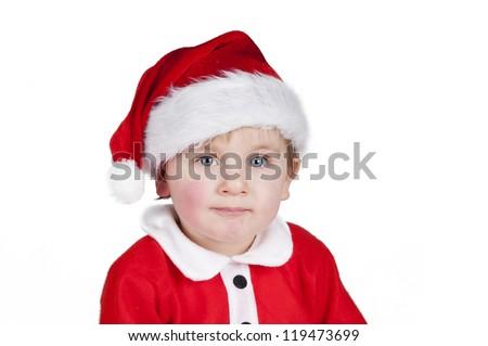 Little Santa Christmas boy - stock photo