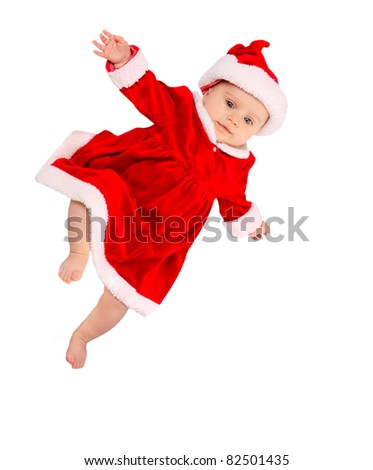 Little Santa Claus isolated on a white background.