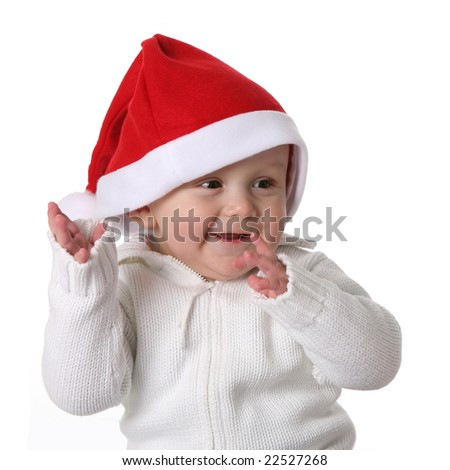 little santa helper - stock photo