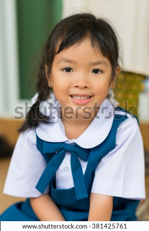 little school girl - stock photo