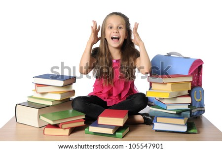 Little  schoolgirl - stock photo