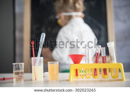 Little scientist - stock photo