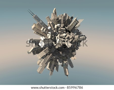 little small busy planet - stock photo