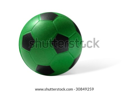 Little soccer ball. Isolated on white - stock photo