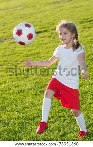 Little soccer player - stock photo