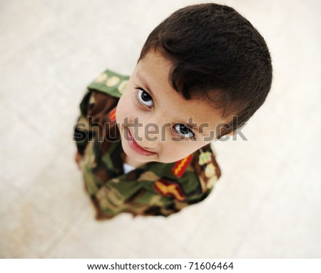 Little soldier - stock photo