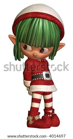 Little sulky elf - stock photo