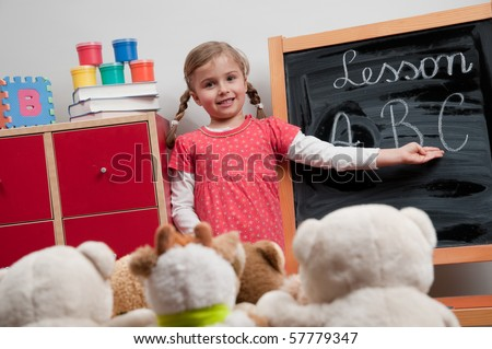 Little teacher (no-name teddy bears)