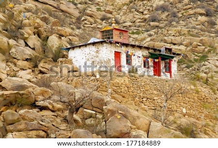 little temple in the mountains of Mongolia
