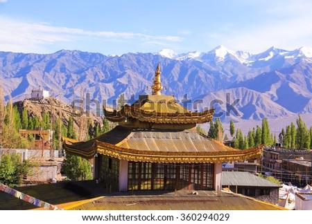 Little Tibet. Leh - stock photo