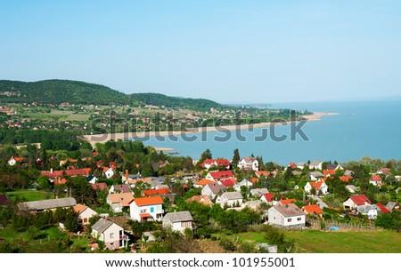 Little village at Lake Balaton, Hungary - stock photo