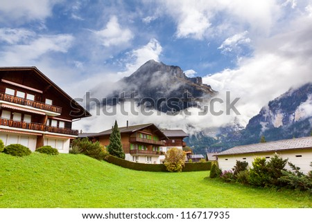 Little Villages in Switzerland - stock photo