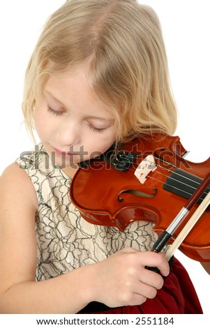 Little Violinist - stock photo