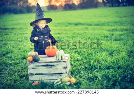 Little witch - stock photo