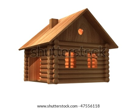 Little wood house. - stock photo