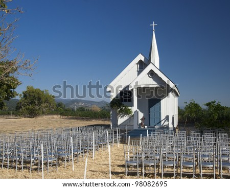 Little wooden church in Napa Valley USA - stock photo