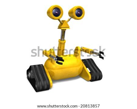 Little Yellow Robot - stock photo