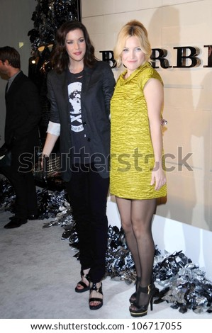 Liv Tyler and Kate Hudson  at the Burberry Beverly Hills Store Re-Opening. Burberry Beverly Hills Store, Beverly Hills, CA. 10-20-08 - stock photo