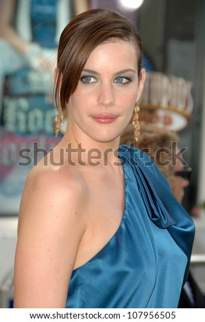 """Liv Tyler  at the World Premiere of """"The Incredible Hulk"""". Gibson Amphitheatre, Universal Studios, Universal City, CA. 06-08-08 - stock photo"""