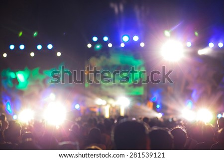 Live concert blurred for background