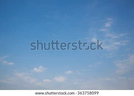 Live in the sky with a few clouds . - stock photo