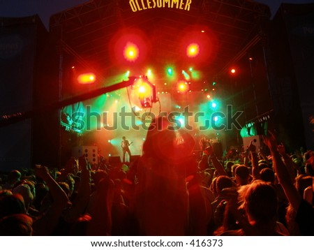 Live music event - stock photo