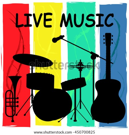 Live Music Indicating Track Nightlife And Concert - stock photo