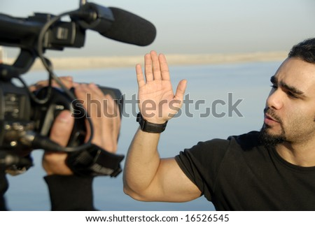 Live Outdoor Production Work - stock photo