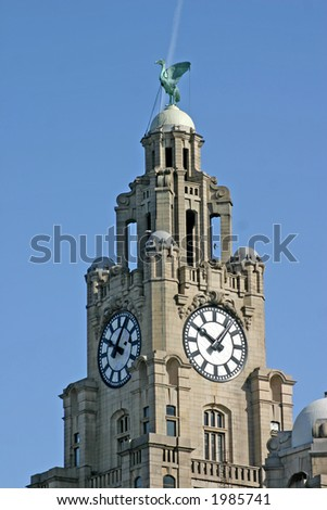 Liver Building in Liverpool England UK