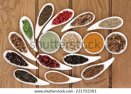Liver detox food selection in white porcelain dishes over oak background.. - stock photo
