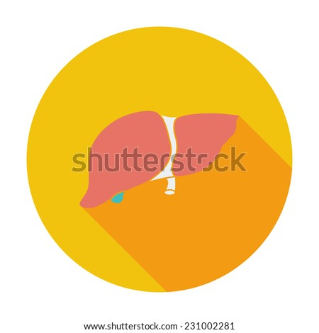 Liver. Single flat color icon.  - stock photo
