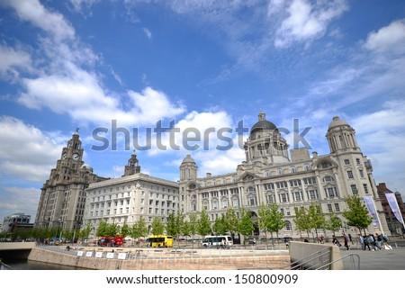 liverpool city - stock photo
